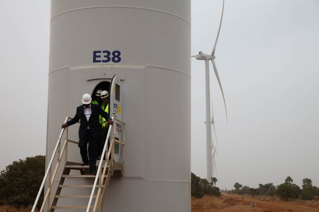 President Sall inaugurates wind power project