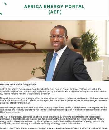 This is the first Africa Energy Portal newsletter.