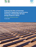 Local currency financing of energy projects in Africa